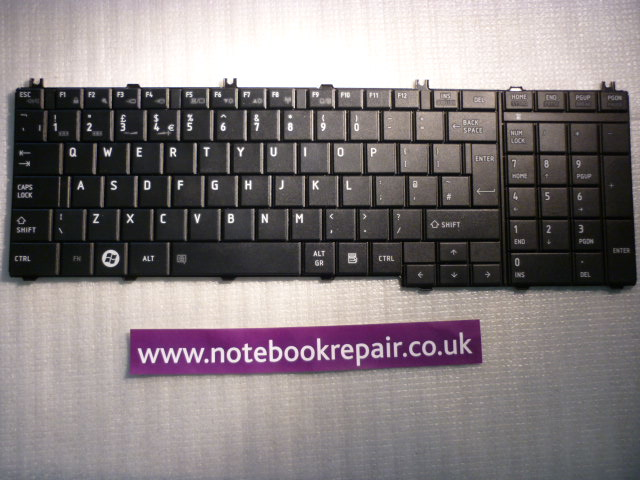 Toshiba Satellite C670 Black KEYBOARD