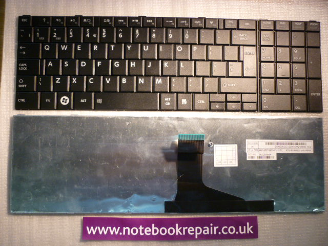 Toshiba EN Black UK KEYBOARD