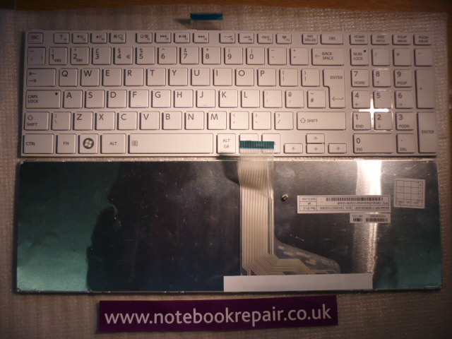 Toshiba EN GRAY White UK KeyboardD
