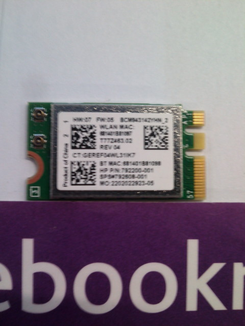 HP 250 G4 WIRELESS WIFI CARD