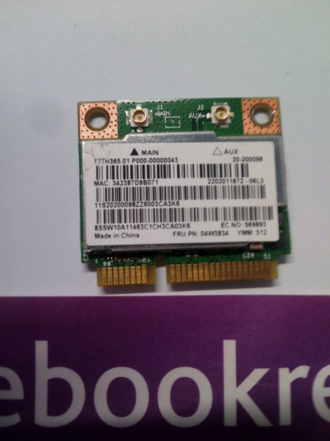 Lenovo Thinkpad E335 WIFI Wireless Bluetooth Card