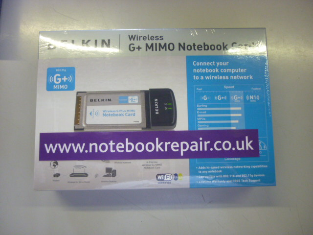 BELKIN WIRELESS G+ NOTEBOOK CARD F5D9010UK