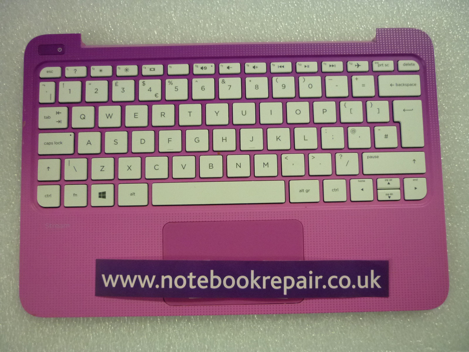 HP 11-D SERIES PALMREST KEYBOARD and TRACKPAD TOP CHASSIS COVER