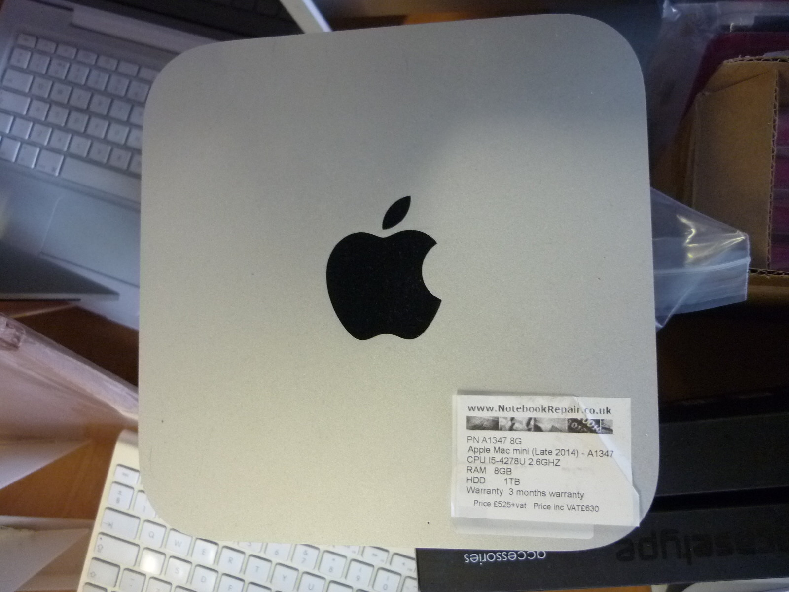 Apple Mac Mini (Late 2014) CPU i5-427BU 2.6GHz 8GB RAM 1TB HDD