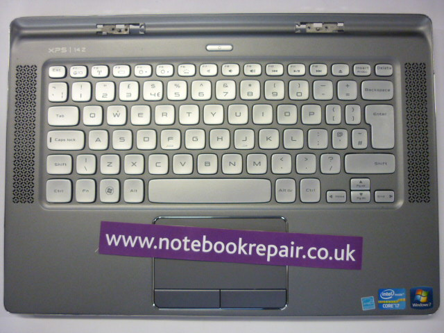 XPS 14Z P24G Palmrest/Keyboard/Touchpad Entire Upper Plastics