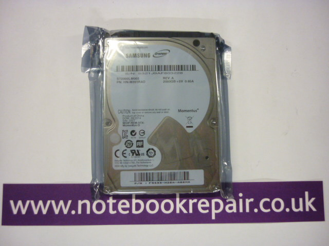 "2TB / 2000GB 2.5"" HDD Hard Disc Drive 5400 RPM"
