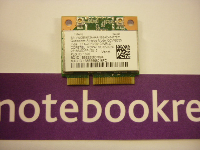 ACER V5-122P -WIRELESS WIFI CARD