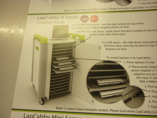 LapCabby 32H 16 way laptop charging trolley