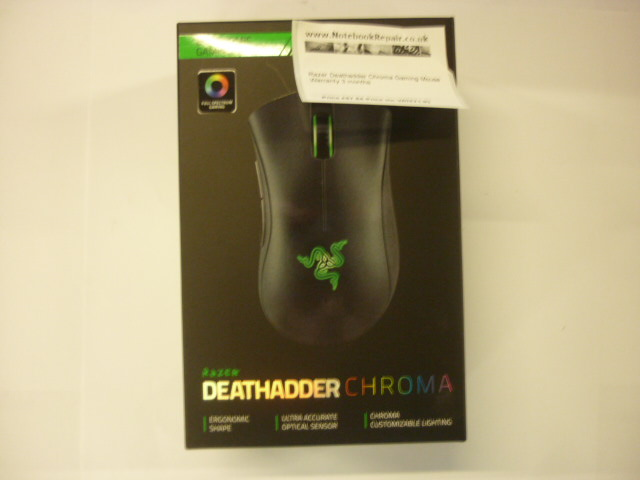 RAZER DEATHADDER CHROMA GAMING MOUSE BLK