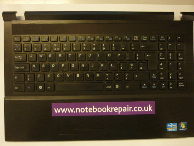 RM Notebook 320 touchpad and keyboard