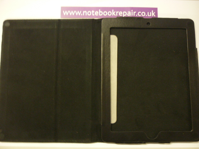 iPad Two Black Leather Wallet Cases