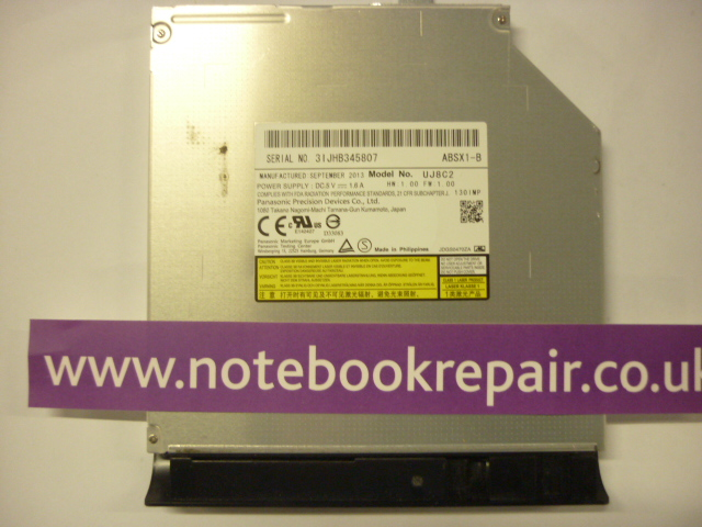 Panasonic DVD-RW Drive UJ8C2 Ultra Slim 9.5mm DVD CD Burner