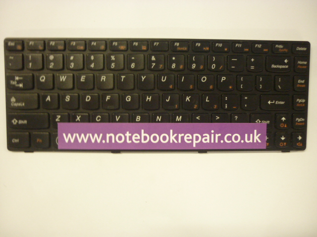 Lenovo G480 Keyboard with Frame US Black