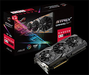 ROG Strix Radeon RX 580 TOP edition 8GB GDDR5 with Aura Sync RGB