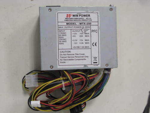 WIN POWER MTX-250 250 WATT POWER SUPPLY USED