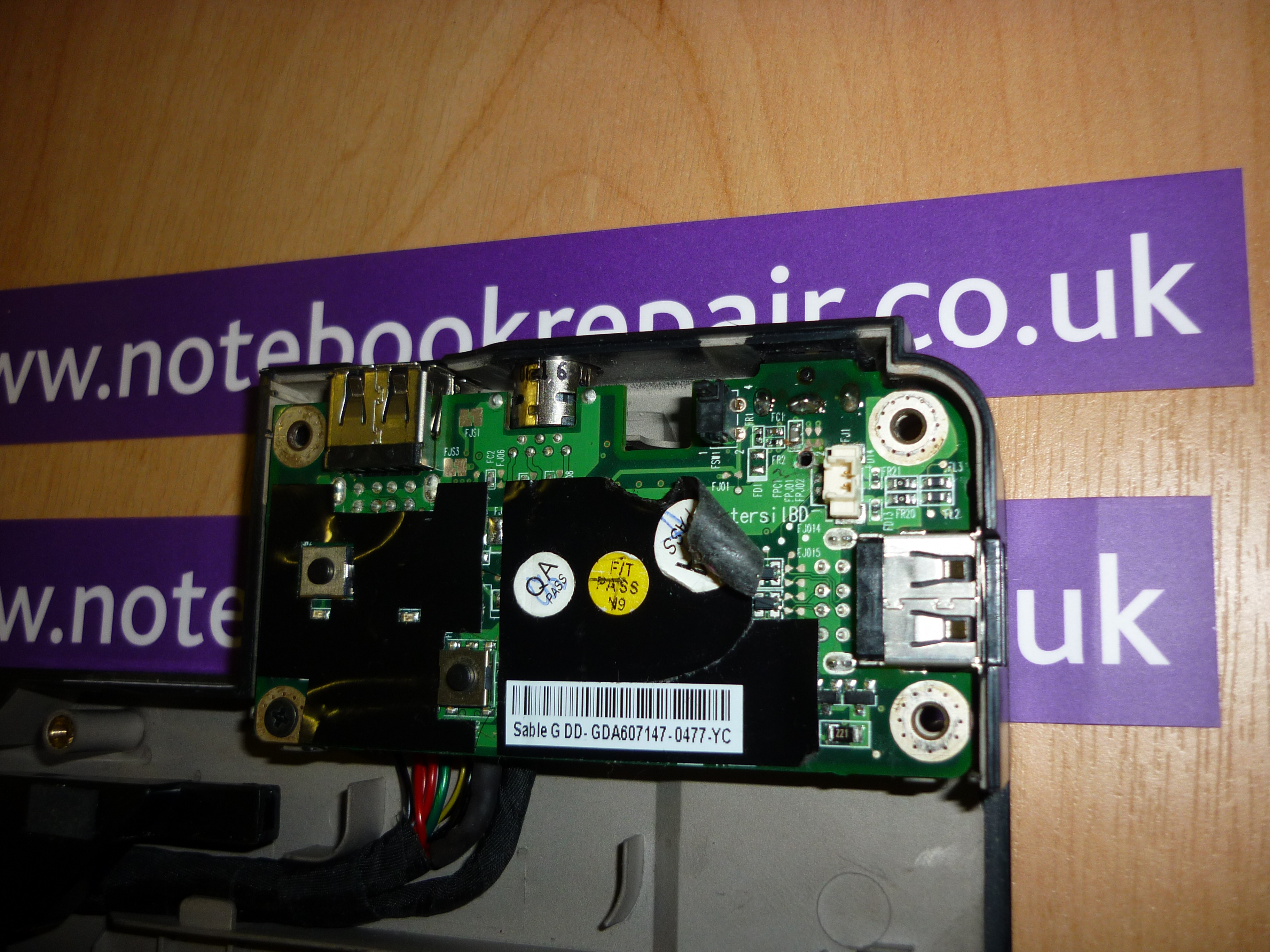 REPAIR TO USB/POWER BOARD P/N GDA607147-0477-YC
